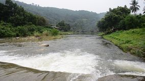 Taha Waterfalls at Ban Khiri Wong in Nakhon Si Thammarat, Thailand. Ban Khiri Wong (บ้านคีรีวง) is an ancient community which settled at the stock video footage