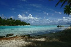 TAHAA-Eiland Polynesia Stock Afbeelding