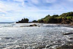 Tahah Lot Temple and ocean waves, Bali Royalty Free Stock Photo