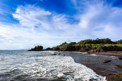 Tahah Lot Temple and ocean waves, Bali Stock Images
