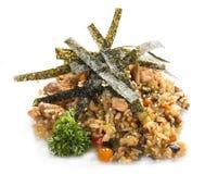 Tahan Pilaf frit avec le poulet Déjeuner asiatique images stock