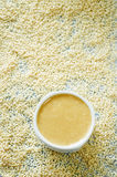 Tahini, sesame paste Royalty Free Stock Photo