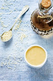 Tahini, sesame paste Royalty Free Stock Photos