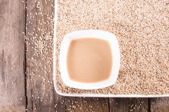 Tahini sezame paste Royalty Free Stock Images