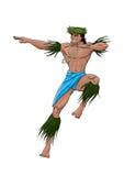 Tahitański tancerz royalty ilustracja