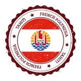 Tahiti flaga odznaka Zdjęcia Royalty Free