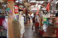 TAHITI, FRANZÖSISCH-POLYNESIEN - 4. August 2018 - traditioneller Markt Papetee stockfoto