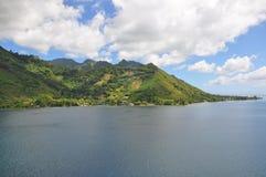 Tahiti-Inseln gestalten landschaftlich stockbild