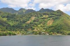 Tahiti-Inseln gestalten landschaftlich lizenzfreies stockbild