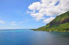 Tahiti-Inseln gestalten landschaftlich stockfoto
