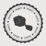 Tahiti klistermärke royaltyfri illustrationer