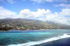 Tahiti lagoon and reef Royalty Free Stock Photos