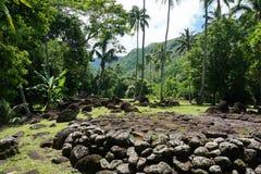 Tahiti Marae stara kamienna struktura Francuski Polynesia Zdjęcie Royalty Free