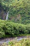 Tahiti. Mountain river and fall Royalty Free Stock Image