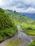 Tahiti. Polynesia. Clouds over a mountain landscape, Royalty Free Stock Photos