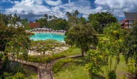 Tahiti Resort. Looking out the window in a Tahiti resort Stock Image