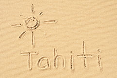 Tahiti in the Sand Royalty Free Stock Images