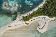 Tahiti-Strand-Antenne stockbilder