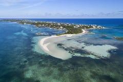 Tahiti strand- och sandstång, Abaco Royaltyfri Bild