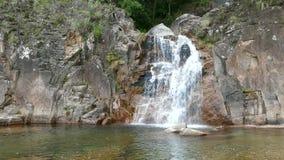 Tahiti waterfall stock footage