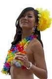 Tahitian女孩 免版税库存照片