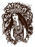 Tahitian女孩 免版税库存图片