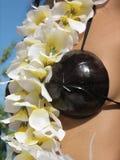 tahitian的女孩 免版税库存照片