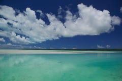 tahitian的盐水湖 免版税库存照片