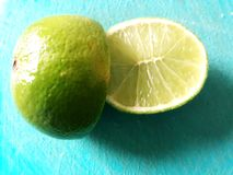 Tahitian citron royaltyfri foto