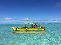 Tahitian colorful boat Royalty Free Stock Photos