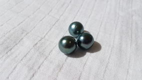 Tahitian cultured Black Pearls. Tahitian cultured loose black pearls from french polynesia tahiti Royalty Free Stock Image