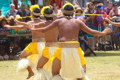 Tahitian Dancers. Performing at festival in Kauai, USA Stock Photos