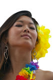 Tahitian girl Royalty Free Stock Photography