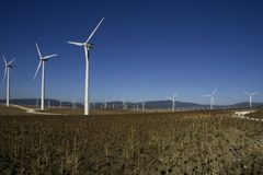 tahivilla windpark hiszpanii Obrazy Stock