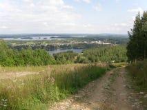 Tahko skidar semesterorten (Finland) i sommar Arkivbild