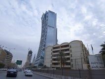 Tahlia街在利雅得,沙特阿拉伯, 01 12 2016年 免版税图库摄影