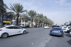 Tahlia ulica W Riyadh, Arabia Saudyjska, 01 12 2016 Fotografia Royalty Free