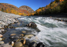 Tahltan River. In Northern British Columbia Stock Photography