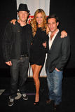 Tahmoh Penikett, Tricia Helfer and James Callis  Royalty Free Stock Image
