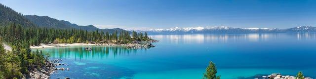 Tahoe湖全景 免版税库存照片