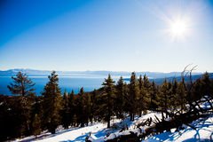Tahoe湖冬天 库存图片