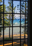 Tahoe湖视图 免版税图库摄影