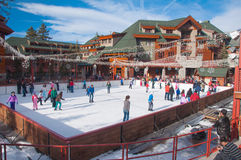 Tahoe滑雪胜地 免版税库存照片