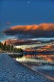 tahoe захода солнца озера Стоковая Фотография