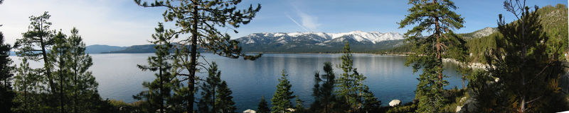 tahoe озера панорамное Стоковые Фото