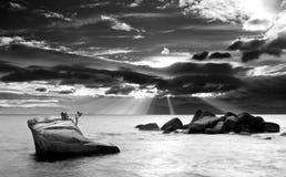 爆炸云彩Tahoe湖 库存图片