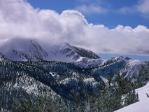 Tahoe Berge im Winter Stockbilder