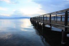Tahoe Dock. Boat Dock at sunset at Lake Tahoe Stock Images