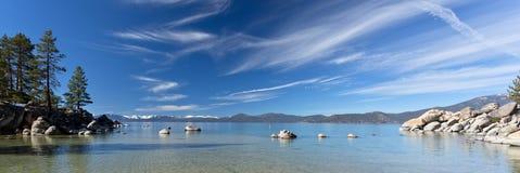 Tahoe jeziorna panorama Obrazy Stock