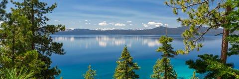 Tahoe jeziorna panorama obraz stock